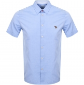 PS By Paul Smith Short Sleeved Casual Shirt Blue